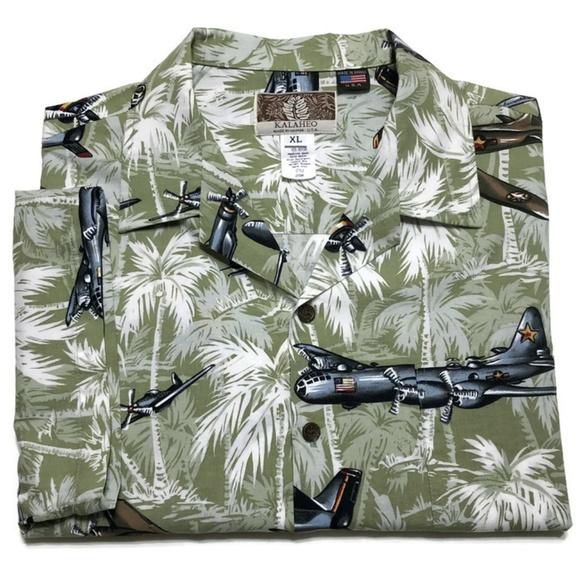 0bcbc977a Kalaheo Shirts | Vtg Ww2 Bomber Planes Hawaiian Shirt | Poshmark